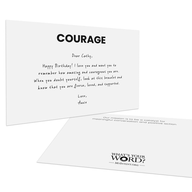 MyIntent Custom Personalized Card has your word printed on the top & your personalized message below