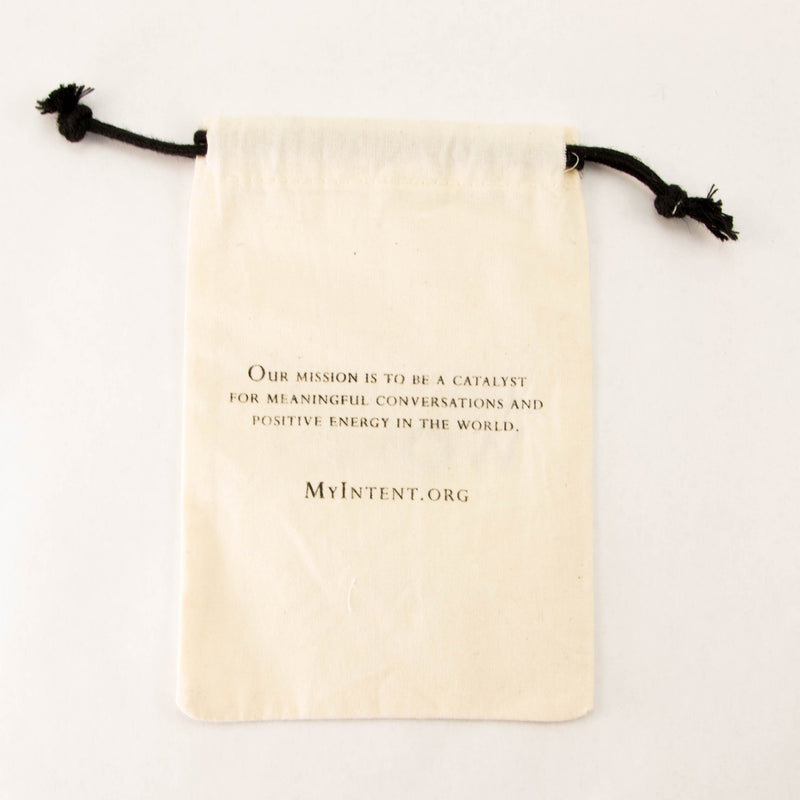 MyIntent Refill 20 linen 4x6 customized Pouch Bags with our company's mission statement on the back