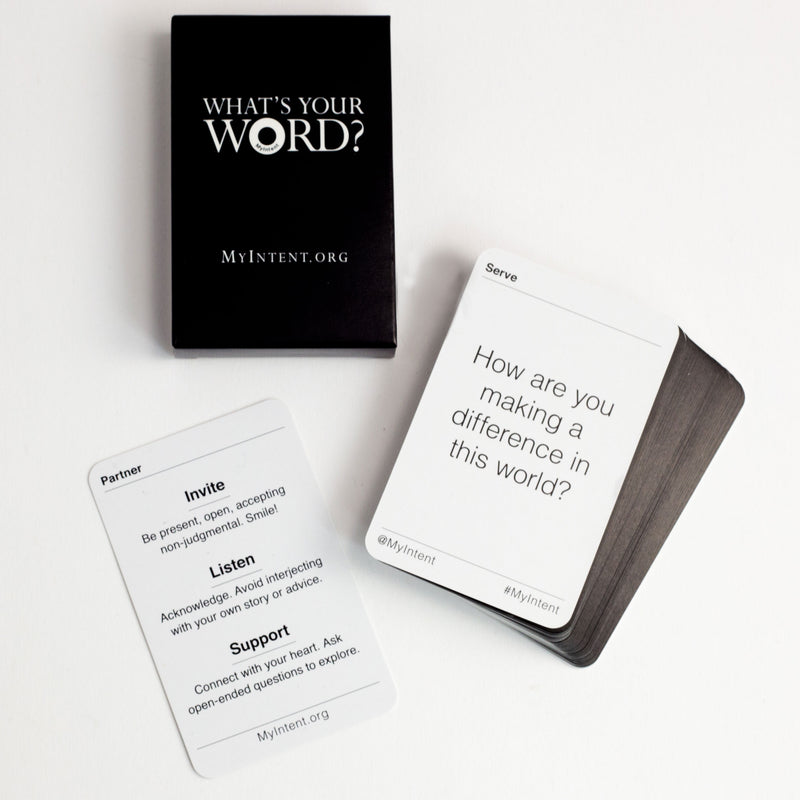 MyIntent Deck of 33 Question Cards provide meaningful questions which help folks to find their word