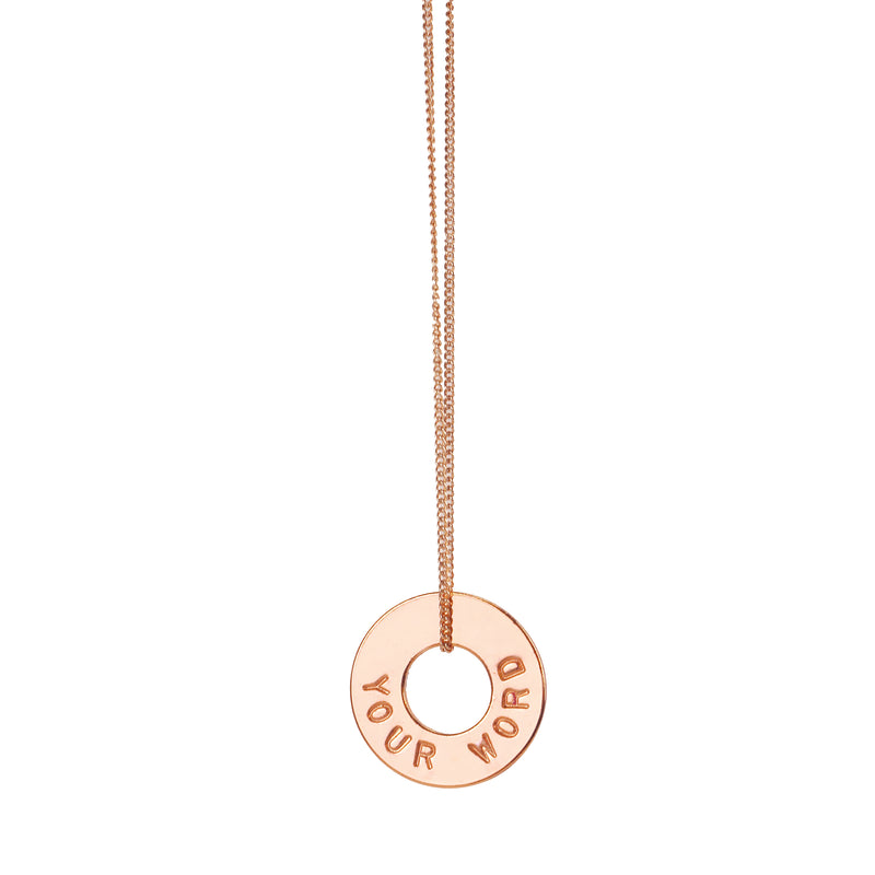 MyIntent Custom Dainty Necklace Rose Gold Plated Color
