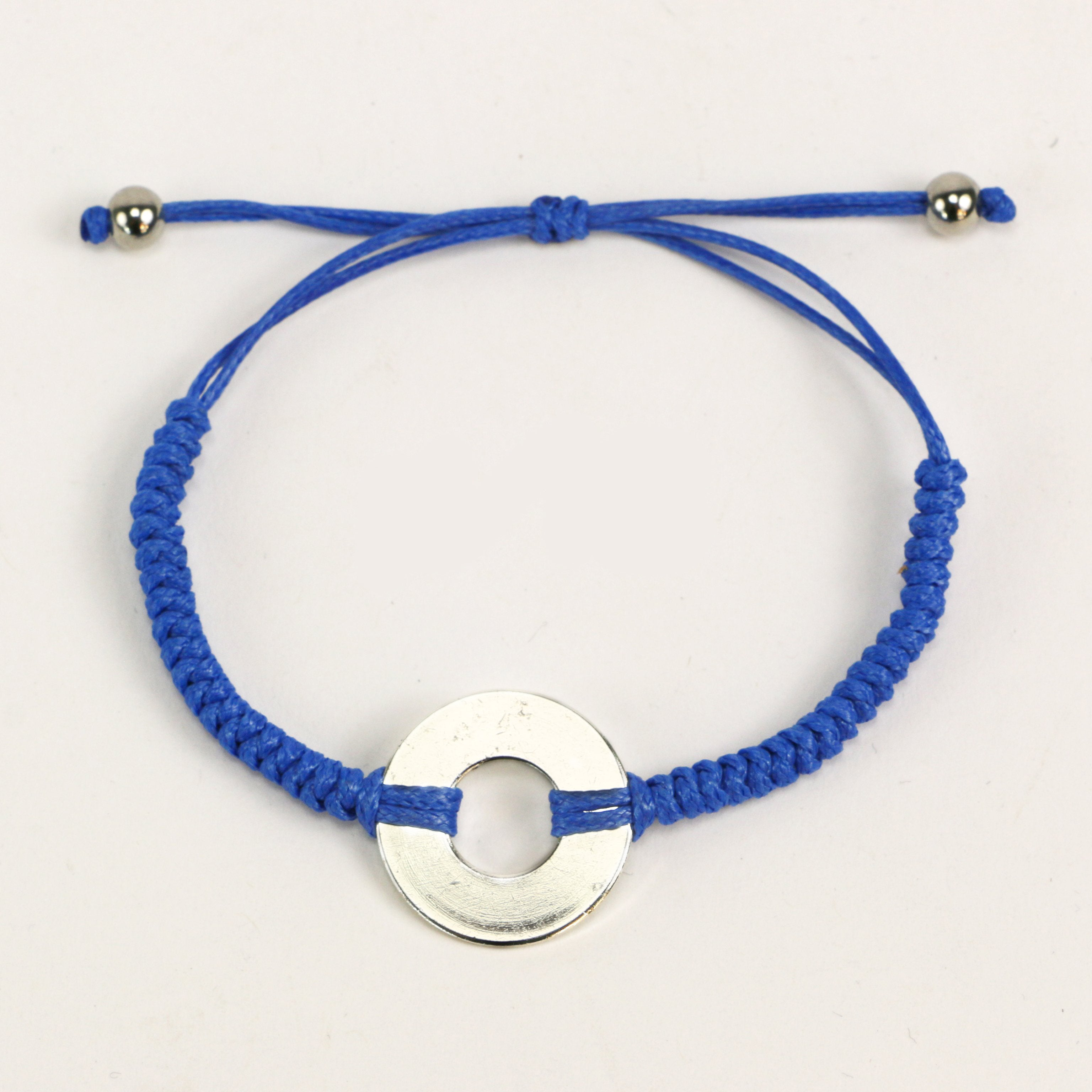 MyIntent Refill Round Bracelet in Blue with Silver Token