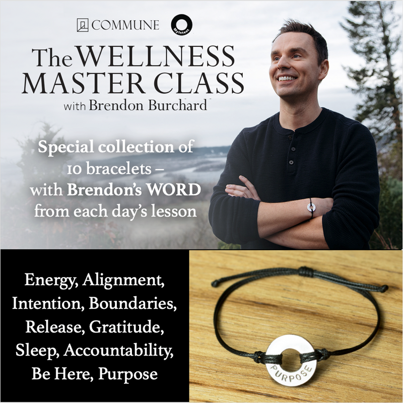 Brendon Burchard's Wellness Master Class's daily habits with 10 stylish Classic Bracelets