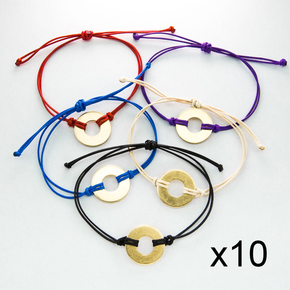 MyIntent Refill Classic Bracelets in All Colors set of 10 both with Brass tokens
