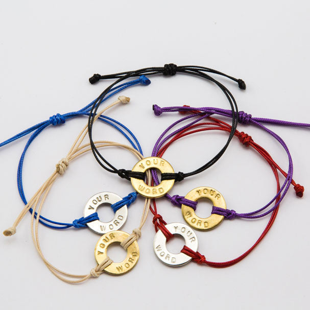 MyIntent Custom Classic Bracelet Token String All Colors