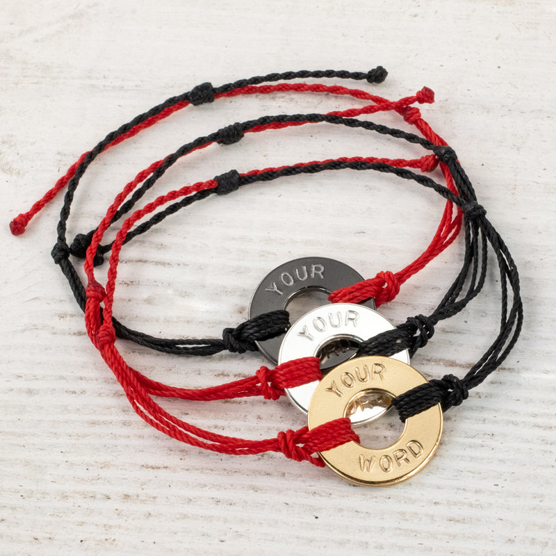 Custom Twist Bracelet - Black & Red