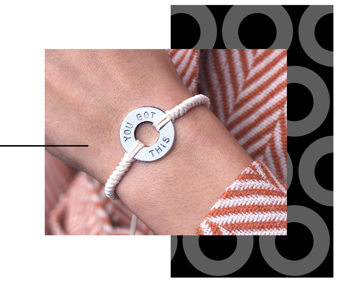 $35 for a Round Style Bracelet (premium tokens + woven style)