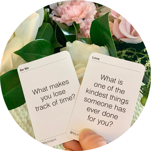 MyIntent Question cards are perfect for a date night