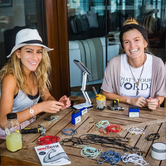 MyIntent Makers bonding over their stamping process