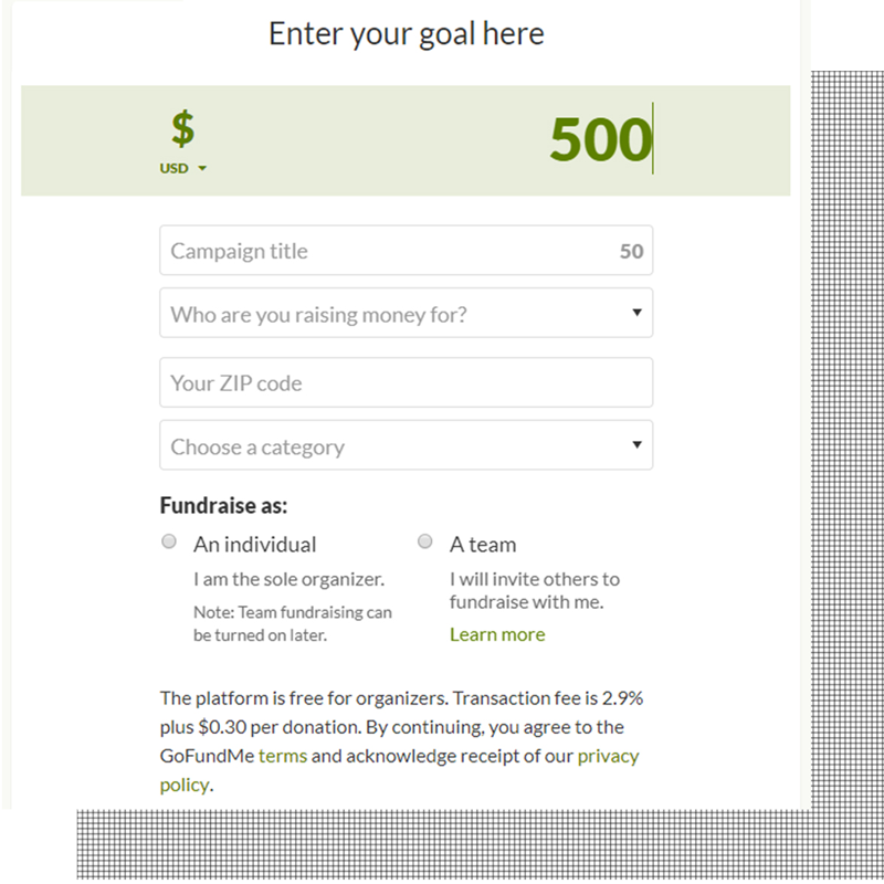 Step 2, you must then enter your goal dollar amount