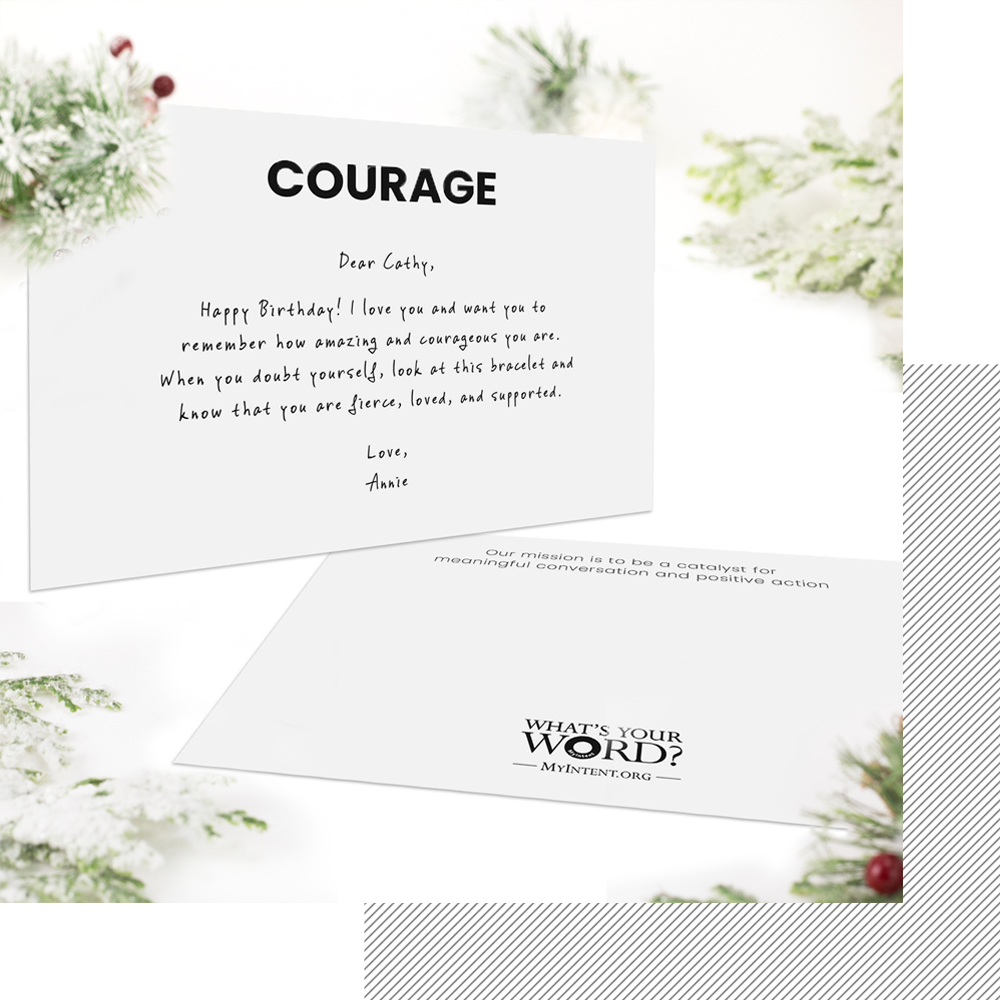 MyIntent Personalized Cards - If you select a personalized card, your story will be custom printed on a card for you to keep ($4.50)