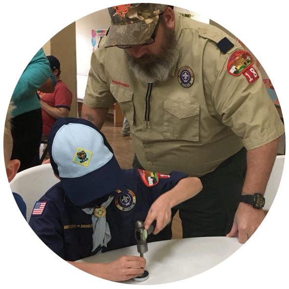 A NEW WAY TO RAISE FUNDS: Cub Scout Pack 18 has been using MytIntent products to help fundraise