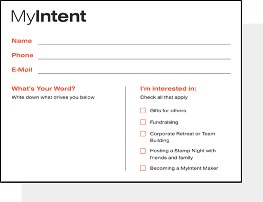 MyIntent Lead Capture Form: Distribute these forms to find new potential customers