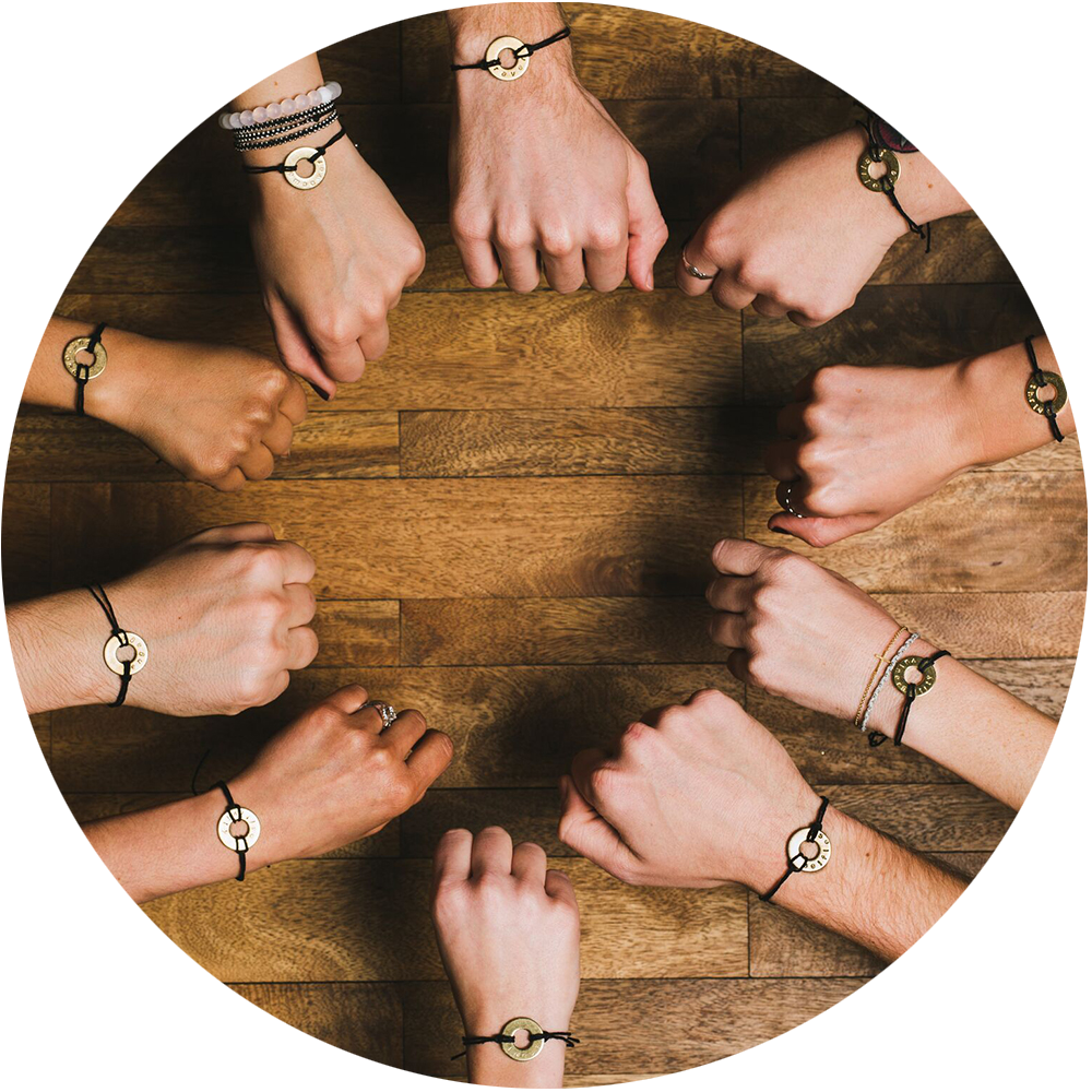 People showing their MyIntent bracelets