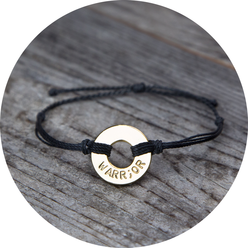 MyIntent Bracelet with the word WARRIOR but also with a semi-colon symbol