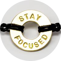 MyIntent Maker Certification Step 1 is to also stamp the word STAY FOCUSED
