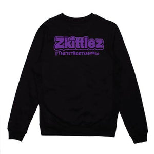 Crew neck purple