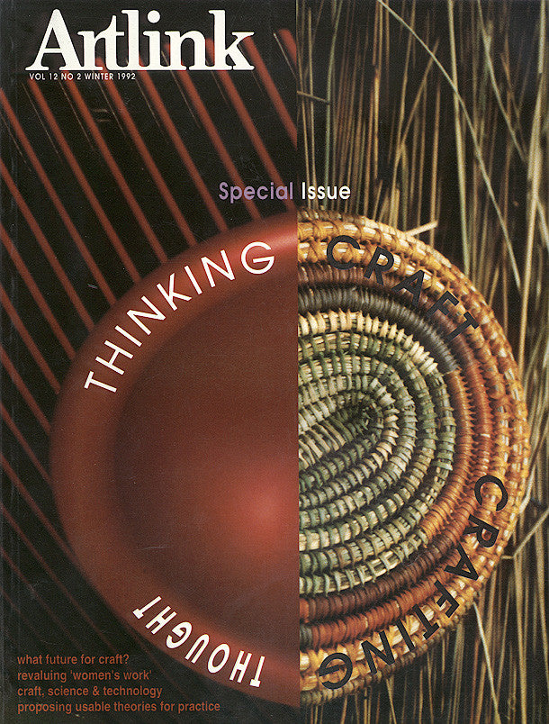 Issue 12:2 | June 1992 | Thinking Craft, Crafting Thought