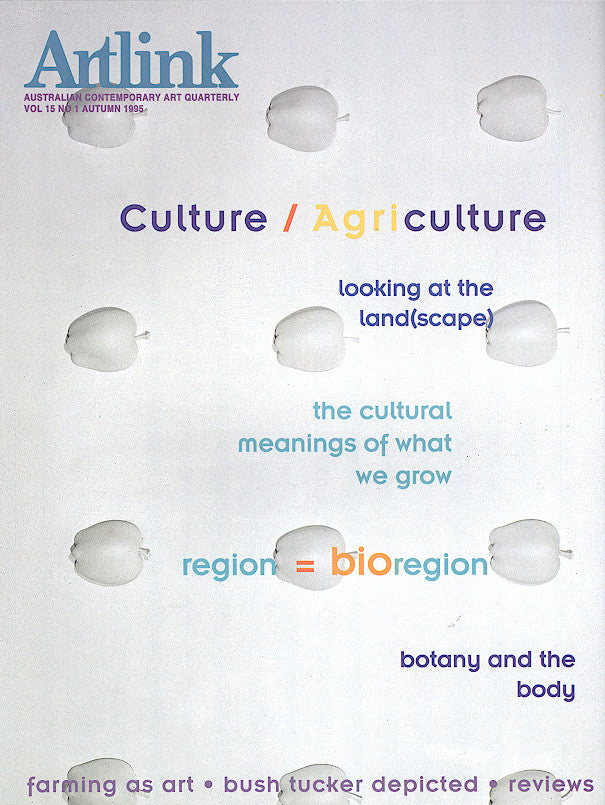 Issue 15:1 | March 1995 | Culture/Agriculture