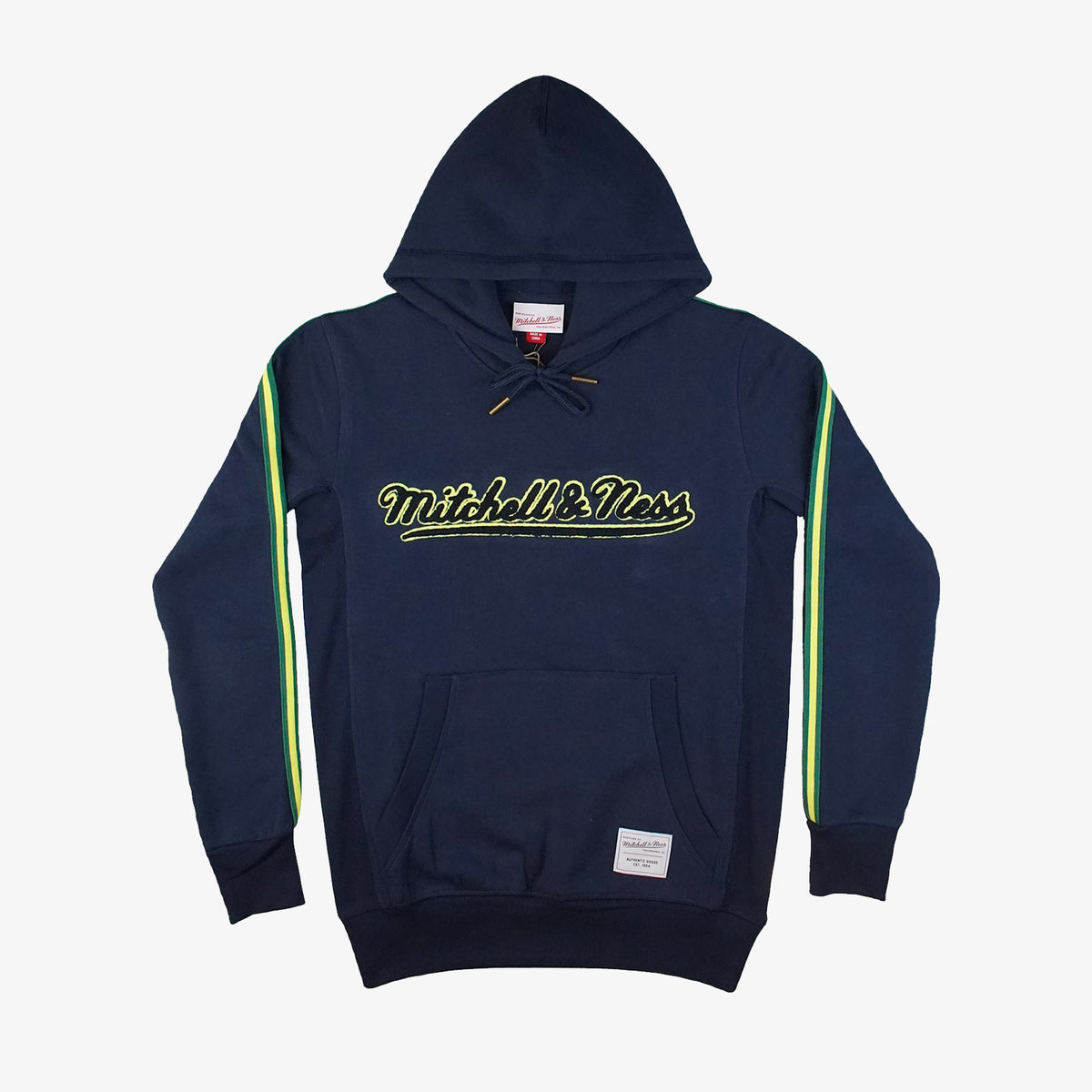 Mitchell and Ness Track Hoodie - Navy