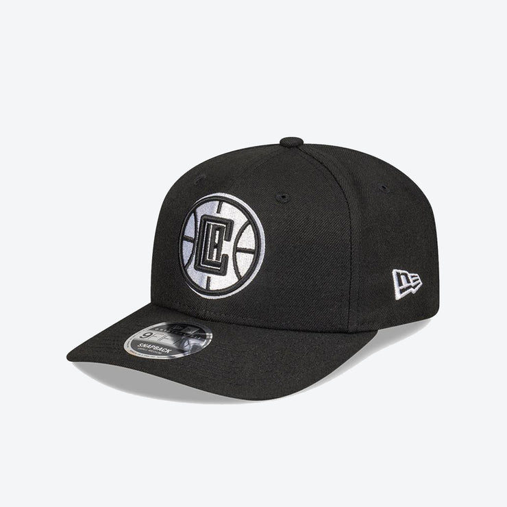 Los Angeles Clippers Logo Pre Curved 950 Snapback - Black