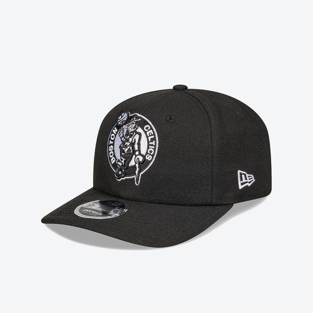 Boston Celtics Logo Pre Curved 950 Snapback - Black