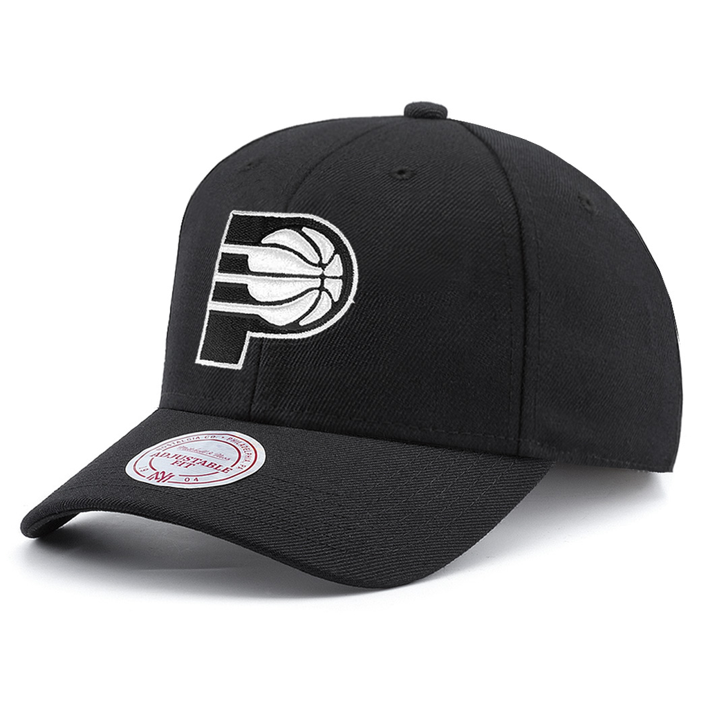 Mitchell & Ness NBA Indiana Pacers Black And White Flex Snapback