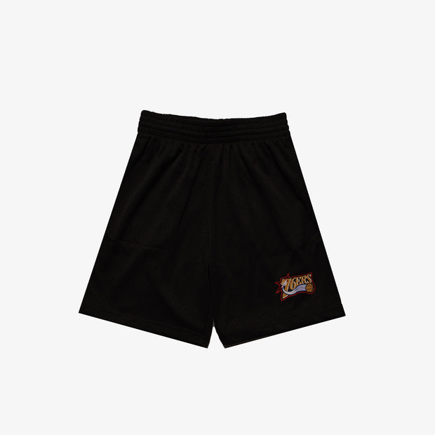 Philadelphia 76ers Mesh Court Shorts - Black