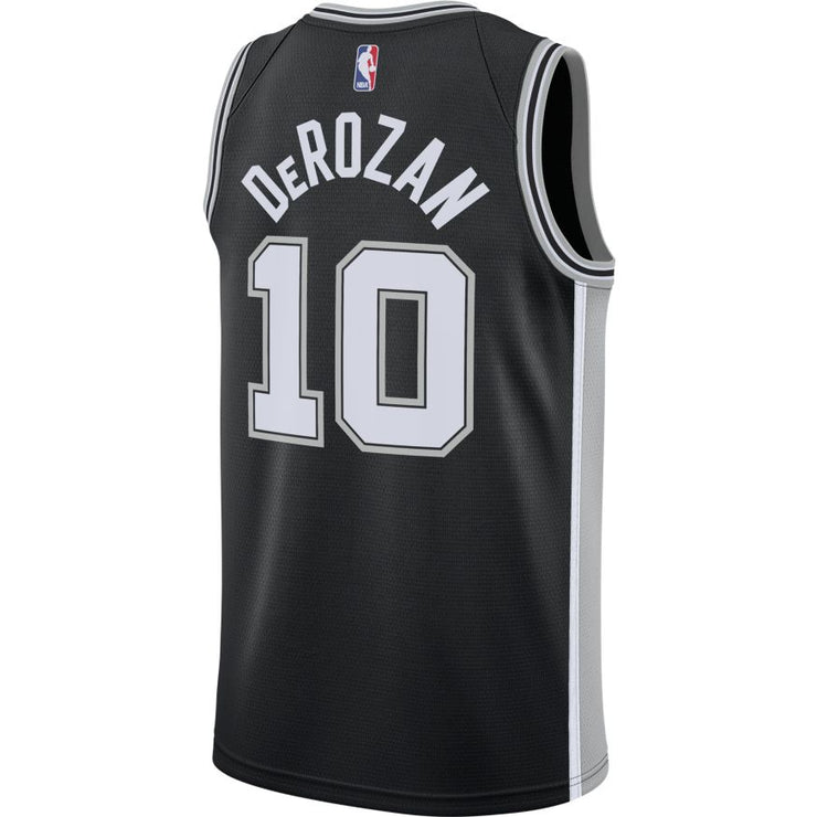 DeMar DeRozan San Antonio Spurs Icon Edition Swingman Jersey - Black