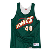 Seattle Supersonics All Star 96 Shawn Kemp Reversible Tank Jersey - White/Green