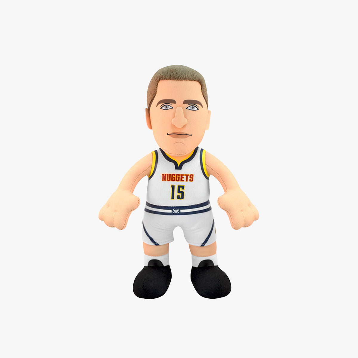 "Bleacher Creatures Superstar Denver Nuggets Nicola Jokic 10"" Plush Figure - White"