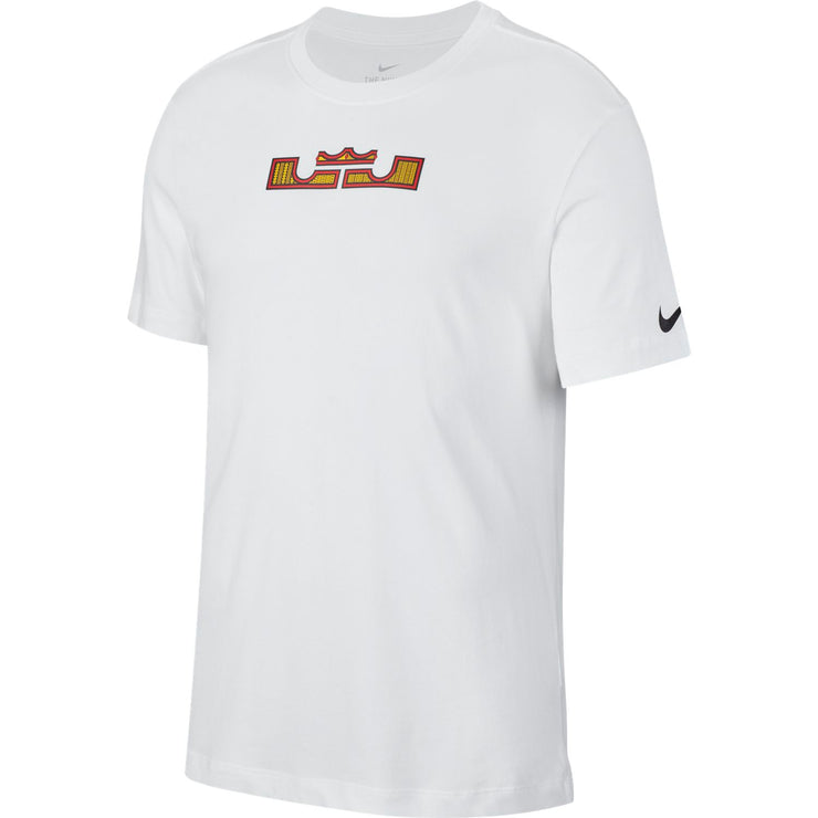 Nike Dri-FIT Lebron Logo Basketball T-Shirt - White