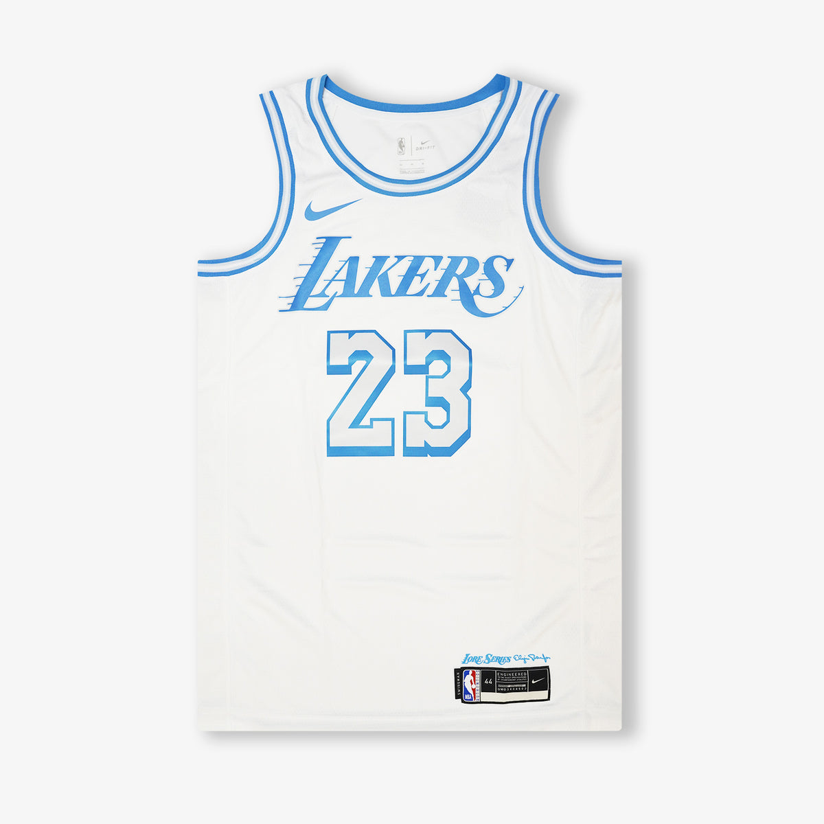 Lebron James Los Angeles Lakers City Edition Swingman Jersey - White