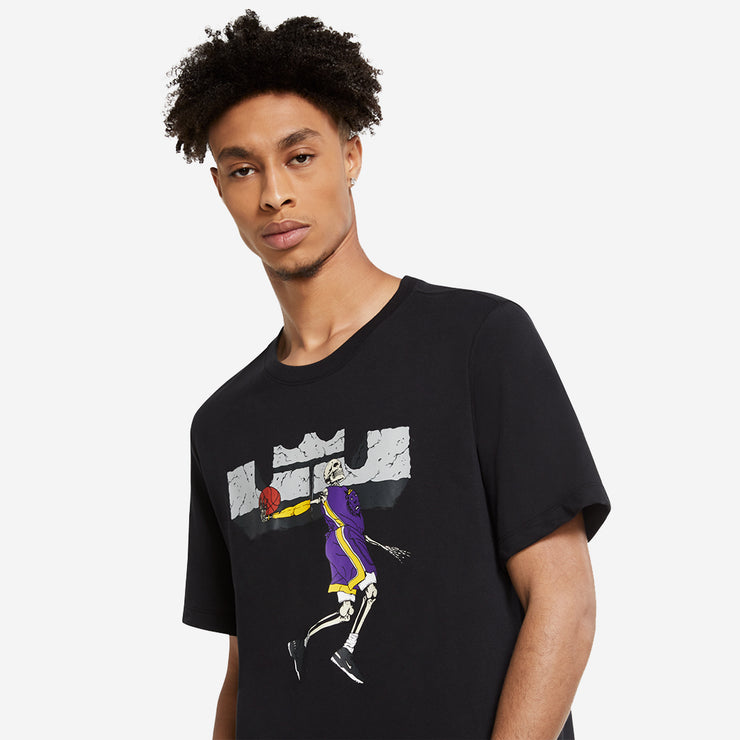 Nike Dri-Fit LeBron 'Skeleton' Logo T-Shirt - Black