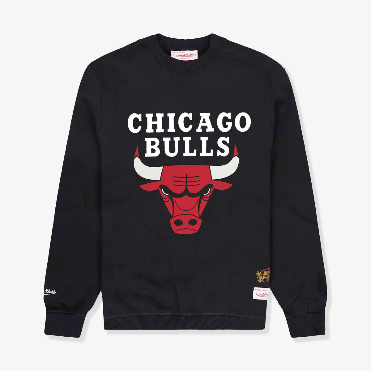 Chicago Bulls Basic Team Logo Crew Sweatshirt - Black