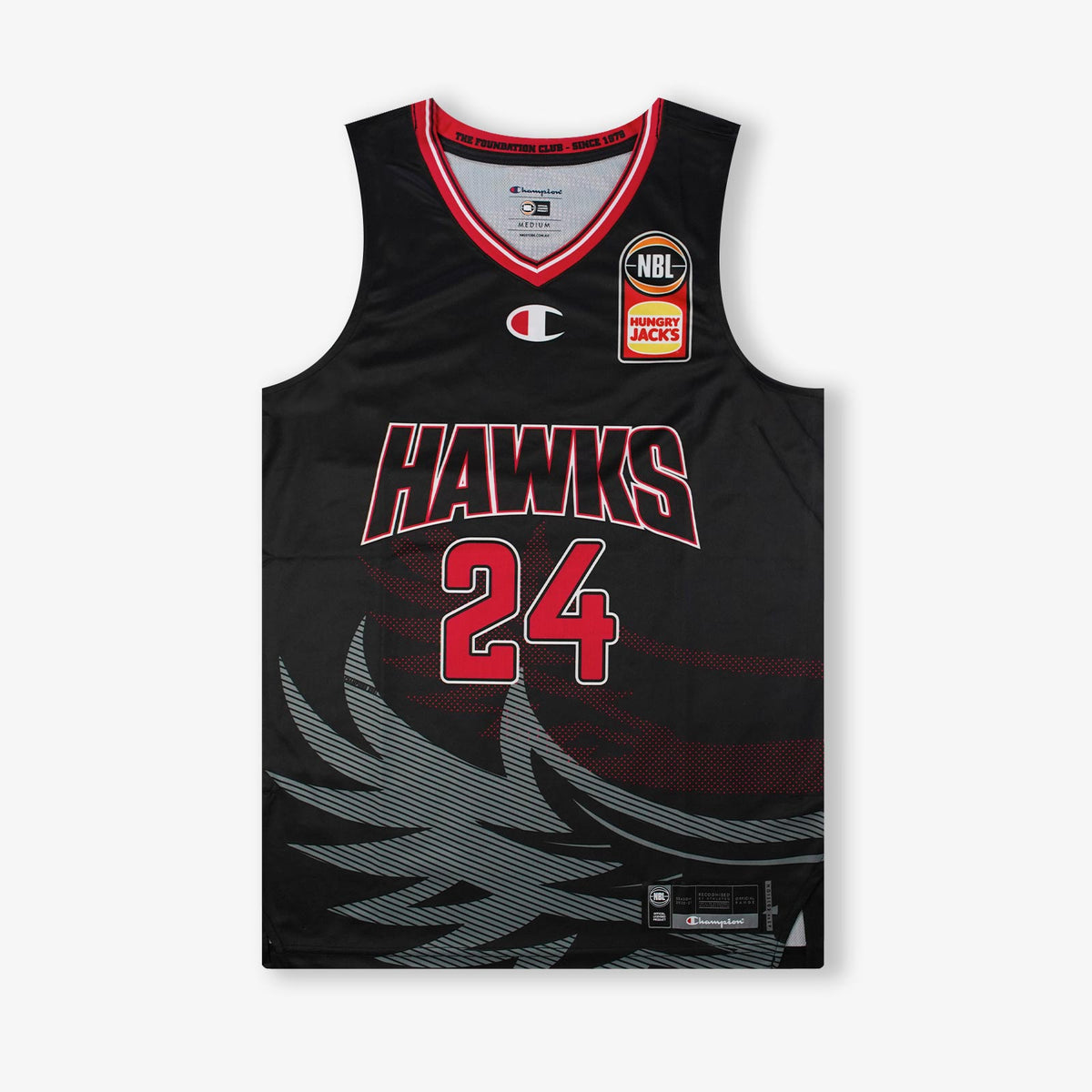 Deng Adel Hawks NBL Home Authentic Jersey - Black
