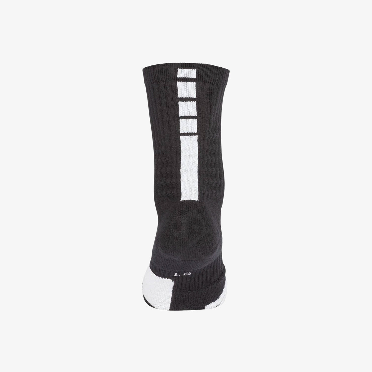 Elite Basketball Crew Socks - Black/White
