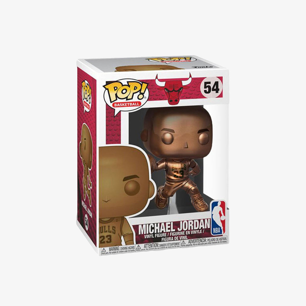Michael Jordan Bronzed Chicago Bulls NBA Pop Figure