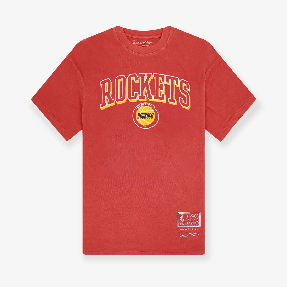 Houston Rockets Vintage Keyline Logo T-Shirt - Faded Red