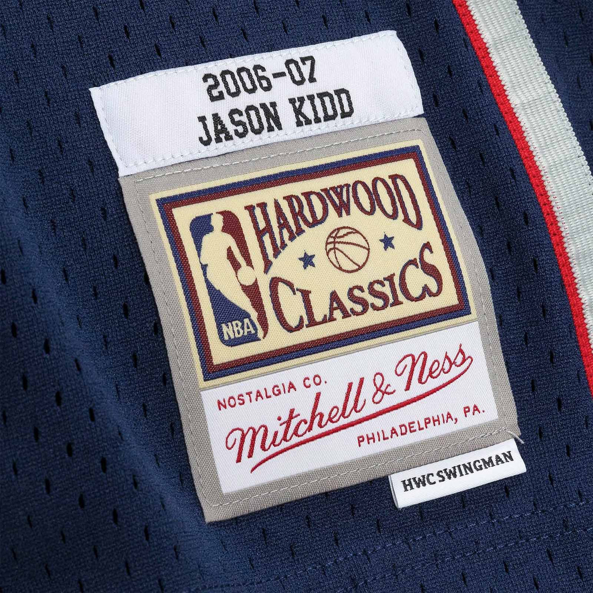 Jason Kidd New Jersey Nets 06-07 HWC Swingman Jersey - Navy