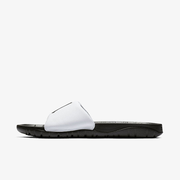 Jordan Break Slide - White/Black-Black