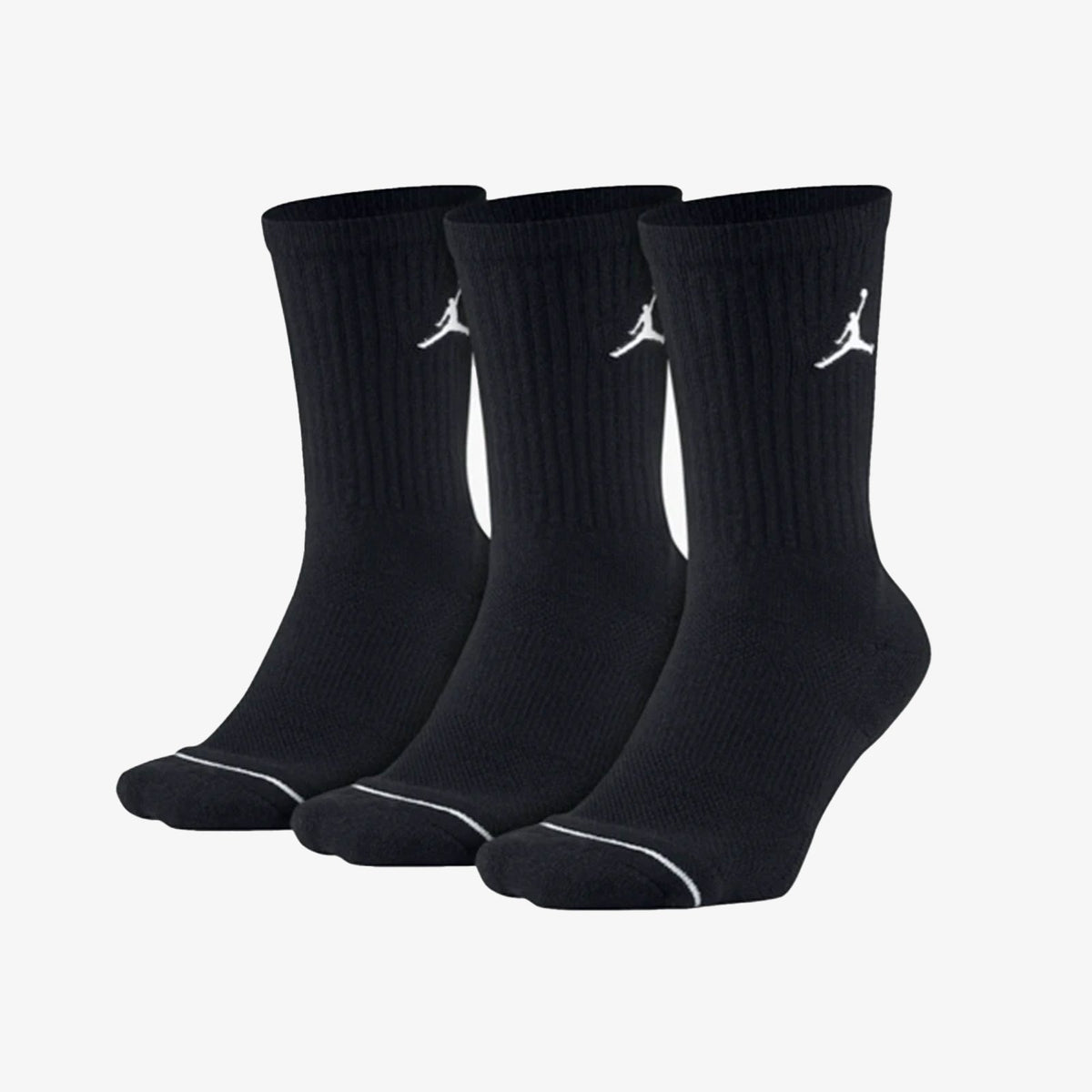 Jumpman Crew Socks (3 Pack) - Black