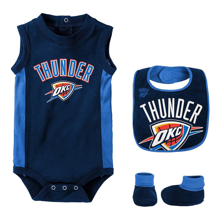 Oklahoma City Thunder Overtime Creeper Bib & Bootie Set
