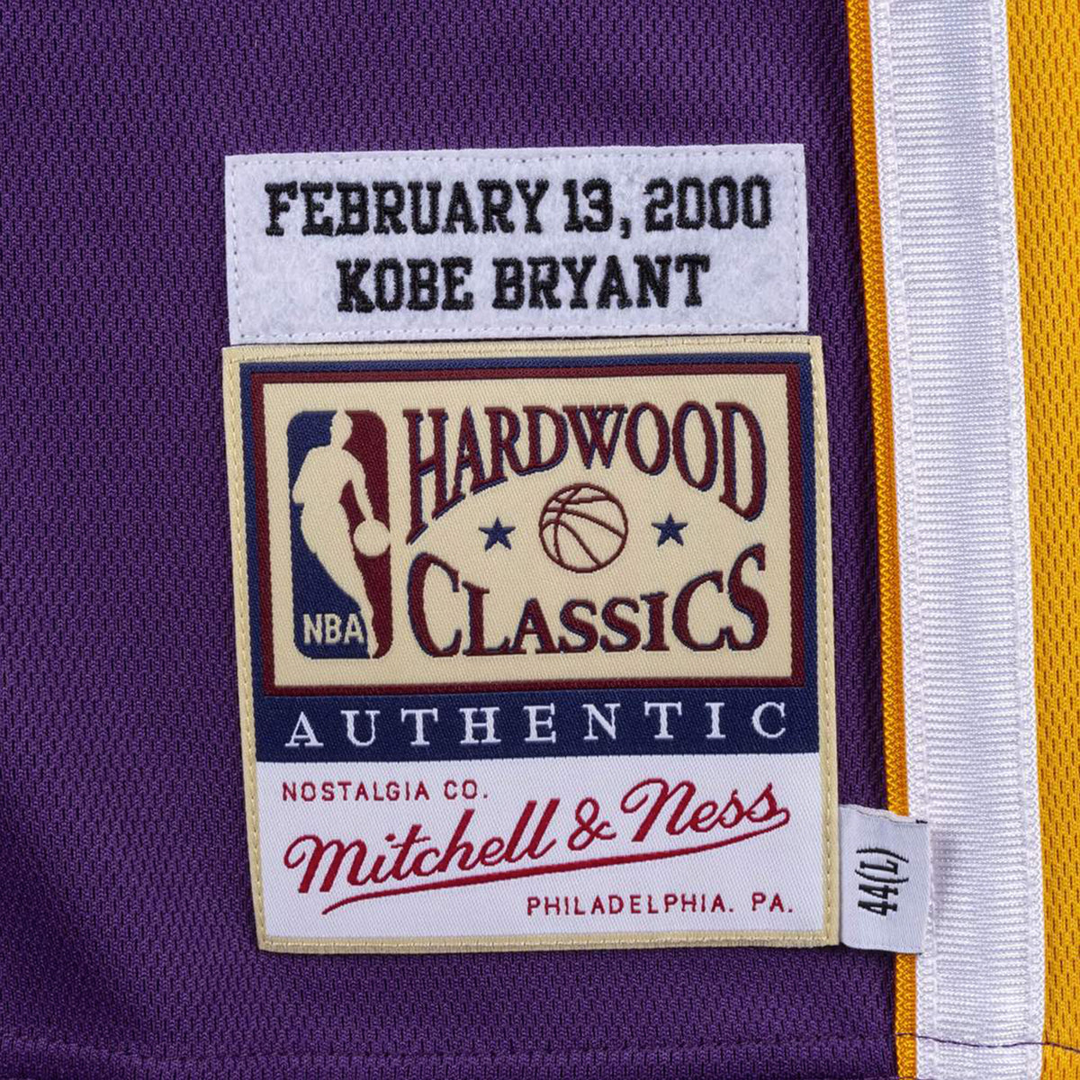 Kobe Bryant Los Angeles Lakers Road Western All Stars 2000 Authentic Hardwood Classic Jersey - Purple