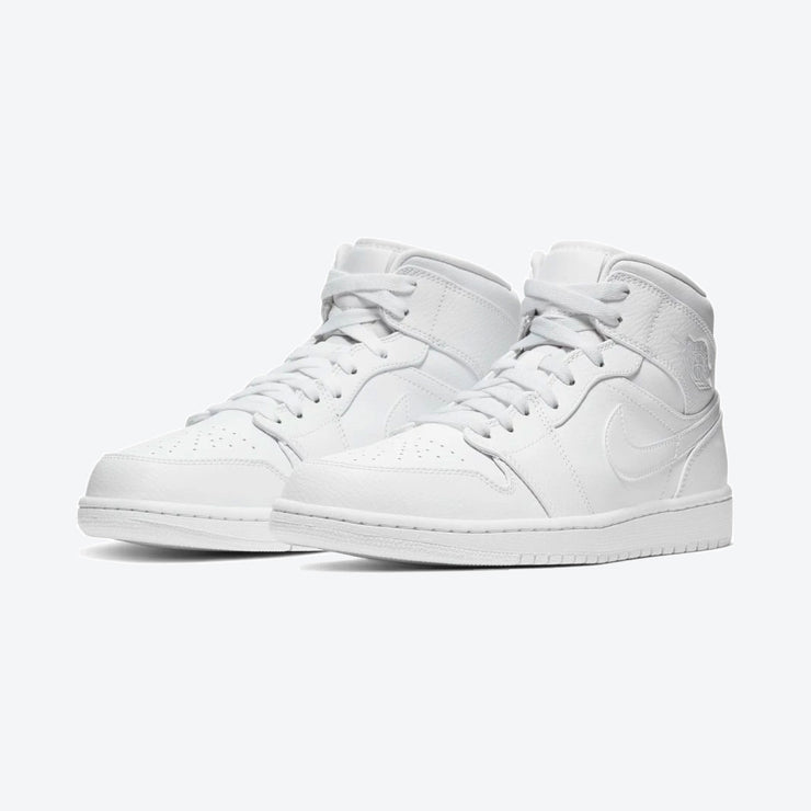 Air Jordan 1 Mid - White/White