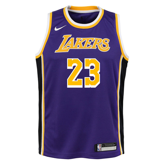 Lebron James Los Angeles Lakers Statement Edition Youth Swingman Jersey
