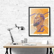 "Los Angeles Lakers LeBron James 18""-24"" Serigraph Print"