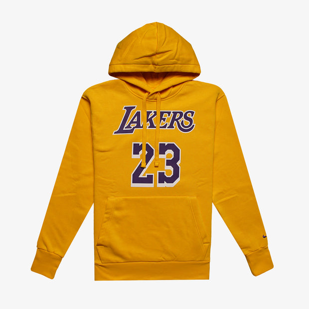 LeBron James Los Angeles Lakers NBA Essential Hoodie - Yellow