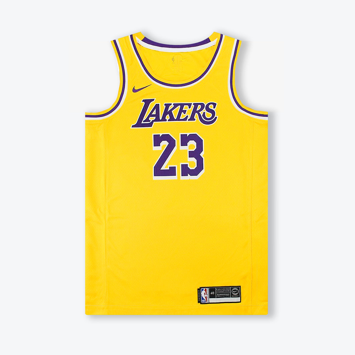 LeBron James Los Angeles Lakers Icon Edition Swingman Jersey - Yellow