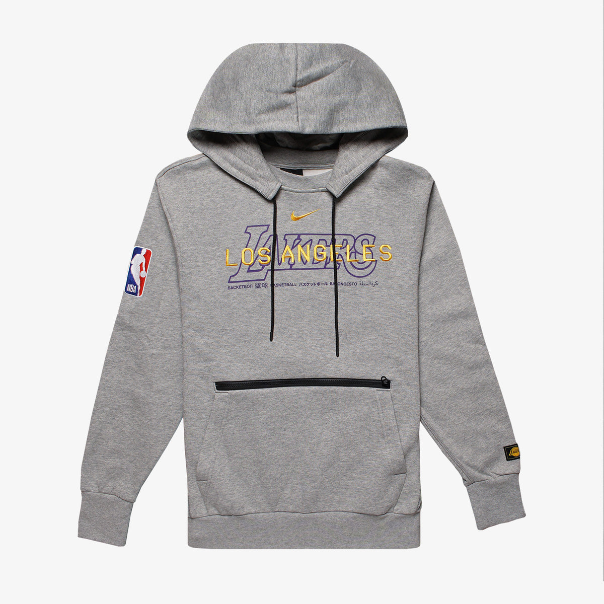 Los Angeles Lakers Courtside NBA Pullover Hoodie - Grey