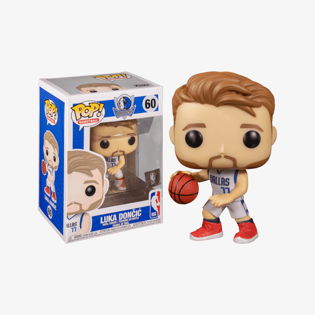 Luka Doncic Dallas Mavericks NBA Pop Figure - White